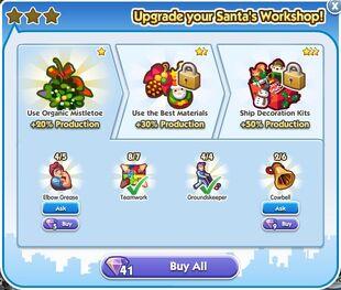 Santa's Workshop Upgrade 1 Unlock