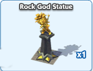 Rock gold statue