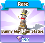 Bunny Magician Statue