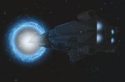 CEND-Battlecruiser MSS Heart of Midlothian Entering Slipspace