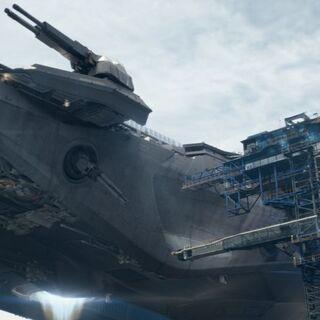 TH BattleCruiser landing on Piaus Port