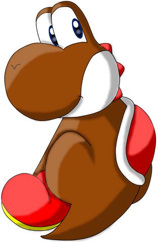 File:Brown Yoshi.PNG