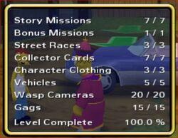 Level progress screen