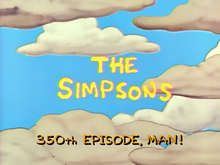 350th Episode Title Screen