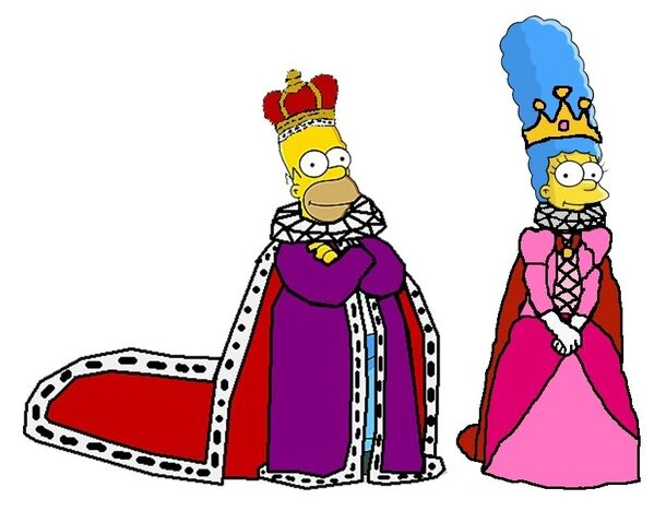 File:King Homer and Queen Marge.jpg