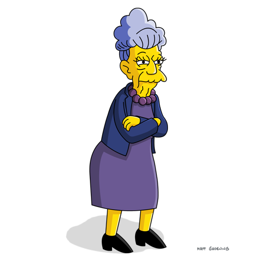 Simpsons Characters Pictures Crazy Cat Lady