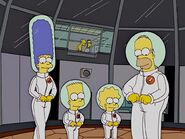 Simpsons in space suits
