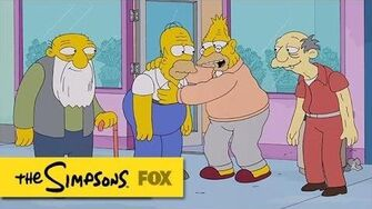 "Grampa Brings Homer To His Level from ""Winter of His Content"" THE SIMPSONS ANIMATION on FOX"