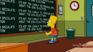 Bart Stops to Smell the Roosevelts Chalkboard Gag