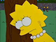 One of Lisa's spiky hairs slice off due to her Willie's real nightmare