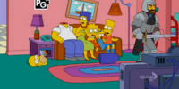 Decapitating Knight couch gag
