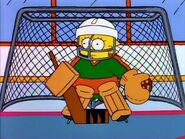 Lisa plays hockey