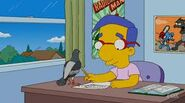 Milhouse seeing the pigean