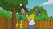Homer trying to get maggie