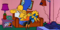 Lying Down Bart couch gag