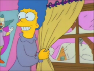 Marge shows the snow