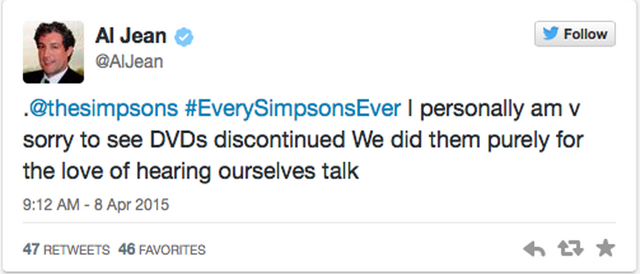 File:Al Jean message about Simpsons DVDs being discontinued.png