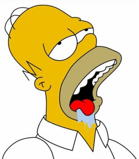 Image result for homer simpson drooling