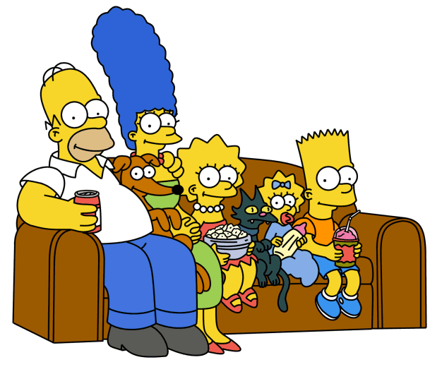 how to draw the simpsons on the couch