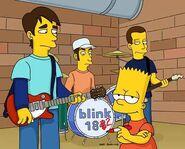 Simpsons blink182 bart