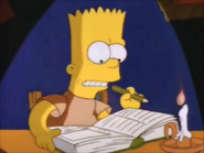 Bart tries to study