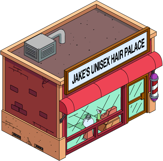 Jake 39 s unisex hair palace simpsons wiki fandom powered for 4 seasons salon hoover
