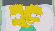 Bart and Lisa With Heads Sewn on One Body