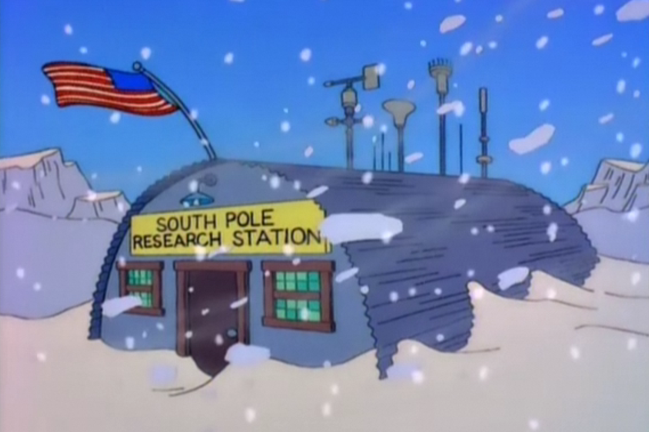 south pole research station simpsons wiki fandom