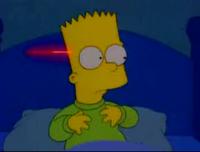 Spaceships attacking Bart
