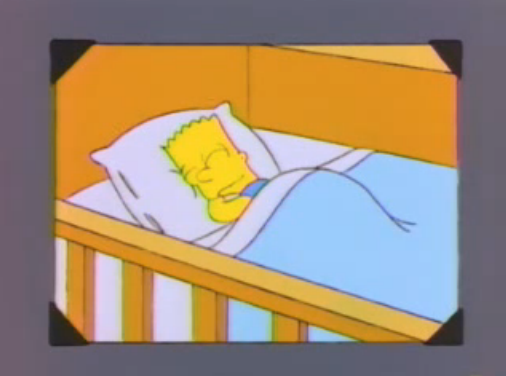 File:Bart young sleeping in a photo in And Maggie Makes Three.png