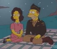 Edwina With Abe Simpson