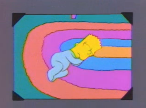 File:Bart young sleeping on the floor in a photo in And Maggie Makes Three 2.png