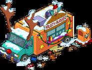 Reindeer Burger Truck 02 Flipped Snow Menu