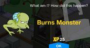 Burns Monster Unlock Screen