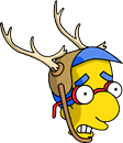 File:Milhouse Antlers Scared Icon.png