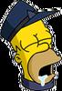 Conductor Homer Asleep Icon