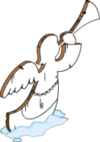Tapped Out Festive Lawn Angel