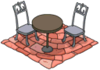 Tapped Out Patio Table