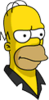 Pin Pal Homer Annoyed Icon