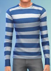 YmTop SweaterCrewBasicStripes StripesBlueWhite