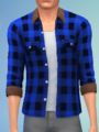 YmTop ShirtFlannelRolled SolidBlue.png