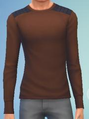 YmTop SweaterCrewBasic Brown