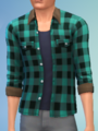 YmTop ShirtFlannelRolled SolidTeal.png