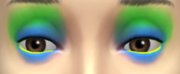 YfMakeupEyeshadow ThreeToneWild BlueGreen