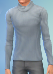 YmTop SweaterFoldedCollar Gray