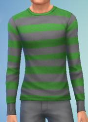YmTop SweaterCrewBasicStripes StripesGreen