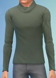 YmTop SweaterFoldedCollar GreenArmy
