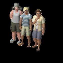 Beach Bums household