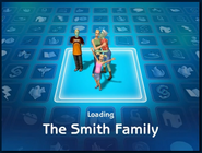 Loading screen of Smith family