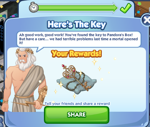 File:Sims Social - Greek Gods Week - Here's The Key - Completed.png